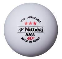 Loptica za stolni tenis NITTAKU Sha, 3kom., bijela