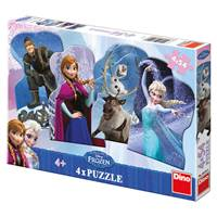 Slagalica DINO, Disney Frozen, 4x54 komada