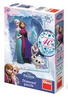 Slagalica DINO, Disney Frozen, diamond puzzle, 200 komada