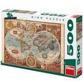 Slagalica DINO, Map Of The World, povijesna karta svijeta, 500 komada