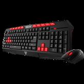 Tipkovnica + miš GAMDIAS Ares V2 Essential, Demeter miš 3200dpi, crna, US layout, USB