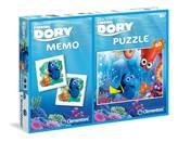 Slagalica CLEMENTONI, Disney, Finding Dory, 60 komada + igra memorije
