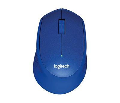 Miš LOGITECH M330 Silent Plus, optički, 1000dpi, bežični, plavi, USB