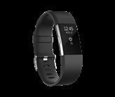Narukvica za mjerenje aktivnosti FITBIT Charge 2 HR, senzor otkucaja srca, crno/srebrena, veličina S