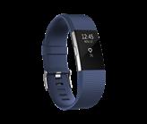 Narukvica za mjerenje aktivnosti FITBIT Charge 2 HR, senzor otkucaja srca, plavo/srebrena, veličina S