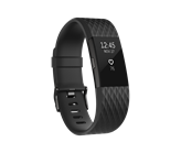 Narukvica za mjerenje aktivnosti FITBIT Charge 2 HR, senzor otkucaja srca, veličina L, crna