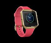 Sat FITBIT Blaze, GPS, multisport, senzor pulsa na zapešću, color touch-ekran, roza/zlatna, veličina L