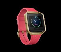 Sat FITBIT Blaze, GPS, multisport, senzor pulsa na zapešću, color touch-ekran, roza/zlatna, veličina S