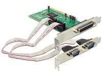 Kontroler PCI, DELOCK, 1x paralelni (IEEE 1284) + 2x serijski port (16C550 UART)