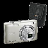 Digitalni fotoaparat NIKON Coolpix S2900, 20.1 Mpixela, 5x optički zoom, SD/SDHC/SDXC, USB, srebrni + Torbica