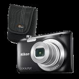 Digitalni fotoaparat NIKON Coolpix S2900, 20.1 Mpixela, 5x optički zoom, SD/SDHC/SDXC, USB, crni + Torbica