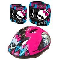 Dječja zaštitna kaciga STAMP, Monster High, veličina S, 52-56cm + štitnici za laktove i koljena