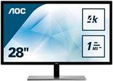 """Monitor 28"""" LED AOC U2879VF, 4K, 1ms, 300cd/m2, 80.000.000:1, D-Sub, HDMI, DVI, DP, crni"""