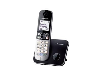 Telefon PANASONIC KX-TG6811FXB, bežični, crni