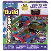 Kinetički pijesak SPIN MASTER, Kinetic Sand Build, Crash 'em Cars, automobilska staza, 340g