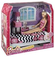 Igračka MATTEL, Barbie Deluxe Bedroom, Barbie lutka i soba