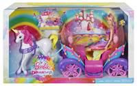Lutka MATTEL, Barbie Dreamtopia, Rainbow Princess, Barbie princeza s kočijom i konjem