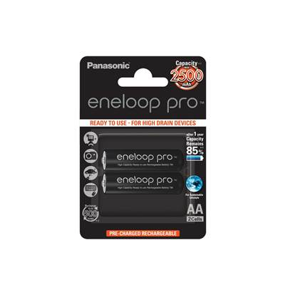 Baterija PANASONIC Eneloop Pro BK3HCDE2BE, tip AA, punjive, 2500 mAh, 2kom