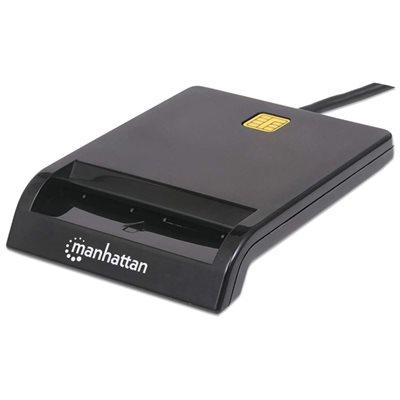 Čitač pametnih kartica MANHATTAN, USB, crni