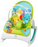 Ljuljačka za bebe i sjedalica FISHER PRICE, Rainforest Friends Rocker, prijatelji iz prašume, 2u1