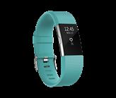 Narukvica za mjerenje aktivnosti FITBIT Charge 2 HR, senzor otkucaja srca, svijetlo plava/srebrena, veličina S