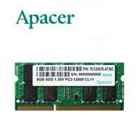 Memorija SO DIMM PC-12800, 8GB, APACER DS.08G2K.KAM, DDR3 1600MHz, kit 2x4GB