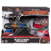 Igračka SPIN MASTER, Dragons, Blast and Roar Toothless, zmaj Bezubi, figurica s funkcijom ispaljivanja