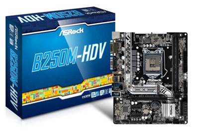 Matična ploča ASROCK B250M-HDV PRO4, Intel B250, DDR4, zvuk, G-LAN, SATA, M.2, PCI-E 3.0, HDMI, DVI-D, D-Sub, USB 3.0, mATX, s. 1151