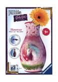 3D slagalica RAVENSBURGER, Flower Vase, vaza, jednorog, 216 komada