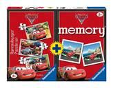 Slagalica RAVENSBURGER, Disney, Cars 4u1 (3x puzzle + memory)