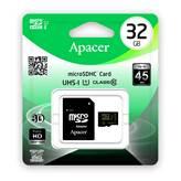 Memorijska kartica APACER, micro SDHC, 32 GB, AP32GMCSH10U1-R, class 10, UHS-I + SD Adapter