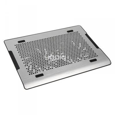 "Hlađenje za notebook COOLERMASTER NotePal A200, do 16"", 2x USB, miniUSB, poteciometar za regulaciju, srebrno"