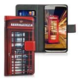 Futrola za smartphone KWMobile London Telephone, za ZTE Axon Mini, crveno-crna
