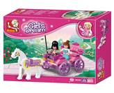 Kocke SLUBAN M38-B0239, Girl's Dream, Princess Carriage, princezina kočija