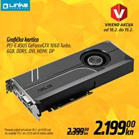 Picture of Vikend akcija - Grafička kartica ASUS GeForce GTX 1060 (18.-19.2.)