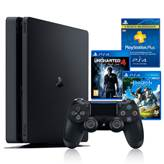 Igraća konzola SONY PlayStation 4, 1000GB, Slim D Chassis + Horizon Zero Dawn PS4 + Uncharted 4 PS4 + PS Plus 90