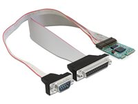 Adapter DELOCK, MiniPCIe I/O PCIe full size 1 x Serial RS-232, 1 x Parallel
