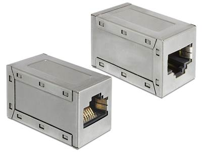 Adapter DELOCK, cat.5e modular Coupler (metalni), RJ45 Ž/Ž (spojnica)