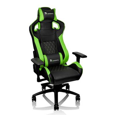 Gaming stolac TTeSports GT Fit GC-GTF-BGMFDL-01, 4D, crno-zeleni