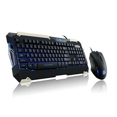Tipkovnica + miš TTeSports COMMANDER Gaming Gear Combo, US Layout, crna, USB