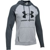 UA Sportstyle Fleece Triblend Hoodie, Overcast Gray/Stealth Gray