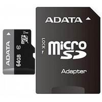 Memorijska kartica ADATA, micro SD, 64 GB, AUSDX64GUICL10-RA1, class 10 UHS + adapter