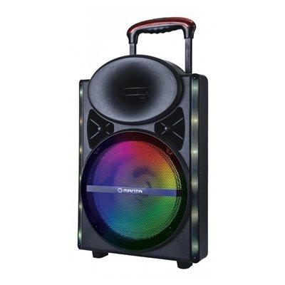 Karaoke MANTA SPK5024 ,FM, pojačalo, daljinski, mikrofon, disco RGB efekt, utor za gitaru, baterija