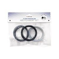 ABS plastična nit FOREVER za 3D olovku, set, bijela, siva, crna
