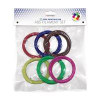 ABS plastična nit FOREVER za 3D olovku, set, crvena, plava, zelena, žuta, smeđa, roza