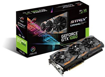 Grafička kartica PCI-E ASUS GeForce GTX 1060 Strix Gaming, 6GB, DDR5, DVI, HDMI, DP