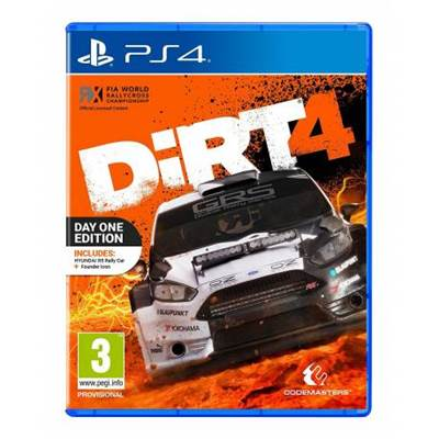 Igra za SONY Playstation 4,  Day One Edition DIRT 4 PS4