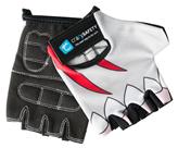 Dječje biciklističke rukavice CRAZY SAFETY Morski pas, vel. S, sive