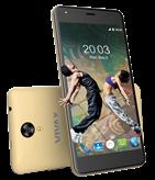 "martphone VIVAX Fun S501, 5"" 2.5D multitouch, Quad-Core MTK6580A 1.3GHz, 1GB RAM, 8GB Flash, Dual SIM, MicroSD, 2G, 3G, BT, Android 6.0, zlatni"
