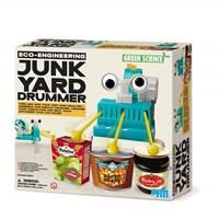 Kreativni set 4M, Green Science, Junk Yard Drummer, robot bubnjar